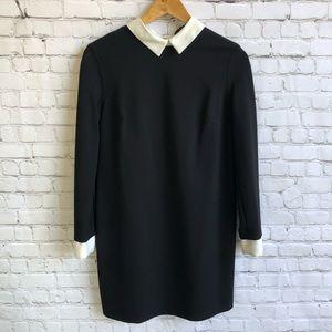 CYNTHIA STEFFE Black Dress w White collar Size 4
